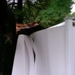Fence damaged off Greenlawn Rd