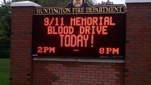 Huntington Fire Dept Sign