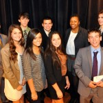 Executive Director Linda Mitchell with Students Who Received Honorable Mention