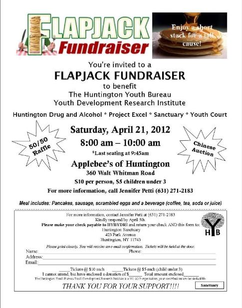 Applebees Flapjack Fundraiser Flyer Template