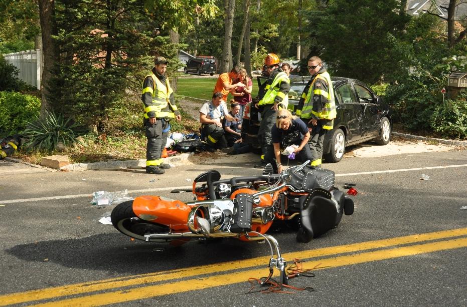 Car Crash Motorcycle Car Crash Fire