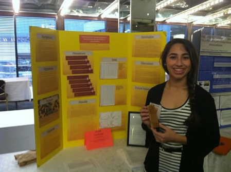 Sabrina Palacios researched pesticides in honey.