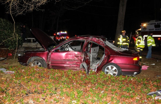 Dix Hills Road Crash
