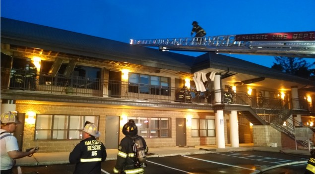 Halesite Fd Responded To Commercial Building Fire The