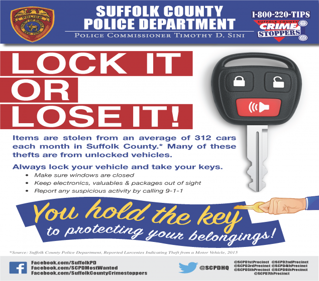 Department Of Motor Vehicles Huntington Ny: Commissioner Sini, Crime Stoppers Announce Suffolk Police