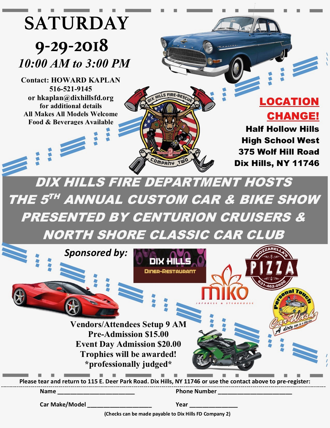 Dix Hills FD Car Show Today Saturday September The - Is there a car show near me today