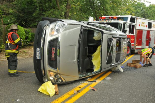 Over turned Vehicle-Photo by Steve Silverman