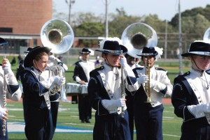 Scenes from the Blue Devil marching band's home show (98)