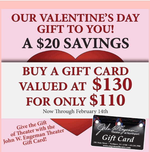 Engeman Theater Valentine's Day