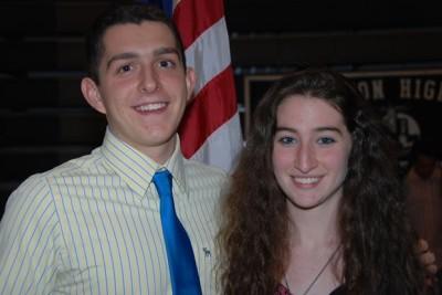 Valedictorian Todd Colvin & Salutatorian Molly Prep